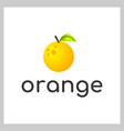 orange logo vector image vector image