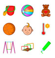 outdoor playground icons set cartoon style vector image vector image