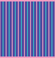 pink and turquoise stripes on blue background vector image vector image
