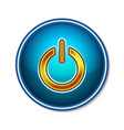 power button symbol icon technology vector image vector image