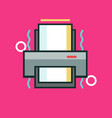 printer icon set of great flat icons use for vector image vector image