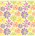 retro spring seamless pattern of daisies vector image vector image