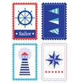 Sailor Stamps for summer collection vector image vector image