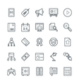 SEO and Internet Marketing Cool Icons 4 vector image vector image