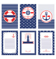 set nautical and marine banners and flyers vector image vector image