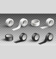 set scotch tape rolls in various angles vector image vector image