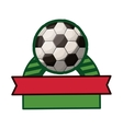 soccer tournament thropy emblem with ball vector image vector image
