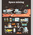 space mining concept set vector image
