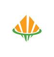 square shape business finance logo vector image vector image