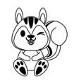 squirrel cute animal cartoon icon image vector image