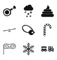 stealth icons set simple style vector image vector image