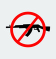 stop terror with sign black gun icon vector image vector image