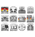 travel to germany icons german landmarks vector image