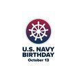 united states or us navy birthday october vector image vector image