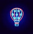 usa air balloon neon sign vector image vector image