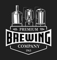 vintage brewery monochrome logo template vector image vector image