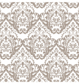 Vintage Classic Rococo Floral ornament damask vector image vector image