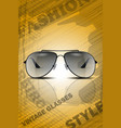 vintage classic sun glasses vector image vector image