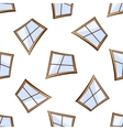 white windows seamless vector image vector image
