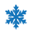 Winter hand drawn grunge brush stroke snowflake vector image vector image