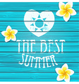 Wooden background Summer vector image vector image