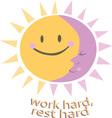 Work Hard vector image vector image