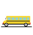 yellow school bus right vector image