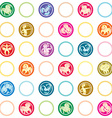 zodiac signs retro pattern vector image