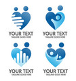 family care and love logo concept vector image