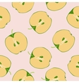 Seamless apple fruit sliced in half vector image