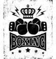 boxing new logo black vector image