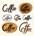 coffee letter vector image