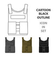 army bulletproof vest icon in cartoon style vector image vector image