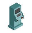atm isometry isolated cash machine financial vector image