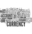 beginner s overview foreign currency exchange vector image vector image
