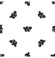 blueberries pattern seamless black vector image