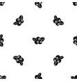 blueberries pattern seamless black vector image vector image