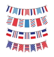 bunting of flags vector image vector image