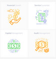 business and finance icon set financial growth vector image vector image