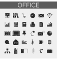 Business and office icons set Trendy line icons vector image vector image
