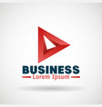 business emblem isolated icon vector image