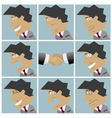 Businessman facial emotions vector image