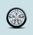 car wheel isolated on clear background vector image