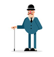 cartoon gentleman vector image