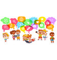 children communicate with social networks vector image