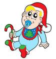 christmas baby vector image vector image