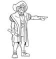 christopher columbus line art vector image