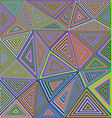 Colorful concentric triangle mosaic background vector image vector image