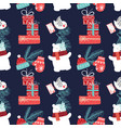 cute christmas and new year seamless pattern with vector image