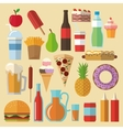 Delicius food Food icon set icon Menu concept vector image